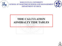 Ppt Tide Calculation Admiralty Tide Tables Powerpoint