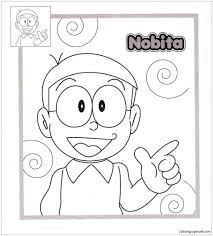 Warm up your imagination and color nicely this doraemon and nobita 2 coloring page from doraemon coloring pages. Nobita Coloring Pages Doraemon Coloring Pages Free Printable Coloring Pages Online