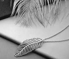 authentic pandora light as a feather pendant necklace 390350cz