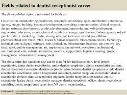 Dentist Description Resume Cv Cover Letter Within Front Desk