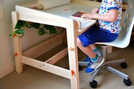 Ikea furniture desks White Gloss Ikea Flisat Childrens Desk How We Montessori Loving Ikea Childrens Tables Flisat Childrens Desk And Table