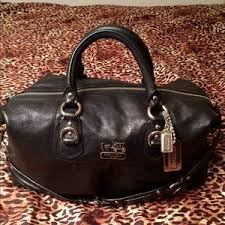 Coach Bags - Coach Madison Sabrina LARGE Black Leather Satchel