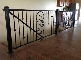 Wrought Iron Rails Attractive Railings For Indoor Intended 3 Designing  Interior: ...