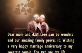 Beautiful Quotes For Mom And Dad Best of Marriage Anniversary Quotes For Parents Best Wishes
