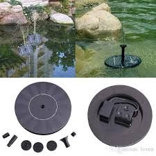 floating solar power fountain panel kit garden water pump small landscape pool garden fountains 7v solar power fountain water pump black solar fountain