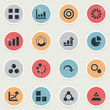 Chart Synonym Vector Illustration Set Of Simple Diagram Icons Elements Target
