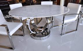 to see larger image cerchio modern round white volakas marble dining table