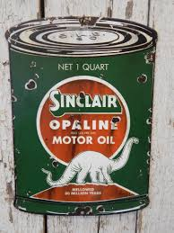 rustic cut sinclair opaline motor oil porcelain advertising sign barn decor 1792647661