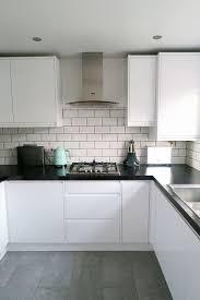 Kitchen:White Gloss Handleless Kitchen Units Cream Gloss Slab Kitchen Doors White  Kitchen Cabinet Doors