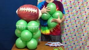 Sports Themed Balloon Decor Football Balloon Centerpiece Decoration Youtube