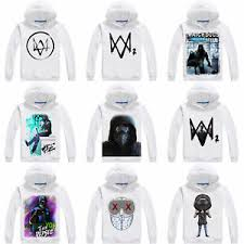 Details About Game Watch Dogs 2 Hoodie Sweatshirt Thick Pullover White Coat Jacket Cosplay