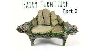 how to make fairy furniture out of clay rocks part 2 diy fairy furniture