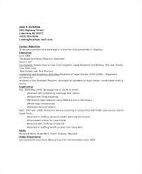 Paralegal Resume Template Sample Resume For New Paralegal
