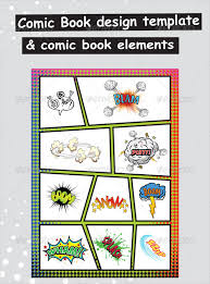 Comic Book Paper Elements & Template
