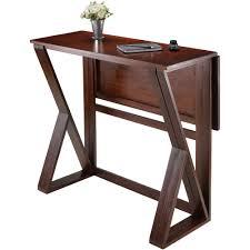 Drop Leaf Dining Table Harrington Drop Leaf High Table Walnut Walmartcom