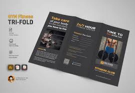 Gym Brochure GYM Trifold Brochure Brochure Templates Creative Market 14
