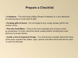 Baby Shower Decoration Checklist Baby Shower Party Checklist Decorations Ideas
