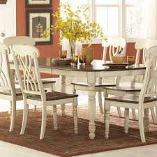 antique dining table and chairs. ohana 7 piece rectangle dining table set - white \u0026 cherry | hayneedle antique and chairs e