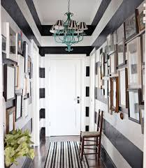 Black and White-Striped Hallway: Hooked or Hate It?