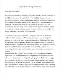 Letter Of Resignation Sample 9 Free Documents In Doc