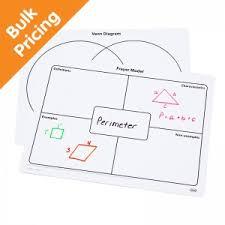 Venn Diagram Model Write On Wipe Off Frayer Model Venn Diagram Mats Set Of 10