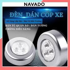 Đèn Led tròn Dán Tường ốp trần cốp xe Ô Tô mini siêu sáng trang trí chiếu  sáng cầu thang giá rẻ ddenf led dùng pin L646