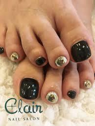 Clair Okinawa Nailくれえるネイル黒をメインにクールなデザイン