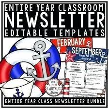February Newsletter Template Monthly Newsletter Template Free Printable For Teachers