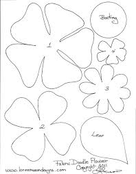 Large Paper Flower Pattern Paper Flower Template Printable Free Paper Flower Templates