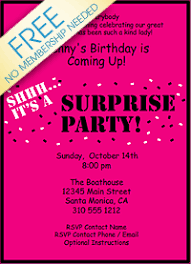 Free Templates For Invitations Birthday Party Invitations Best Surprise Party Invitation Ideas Free 64