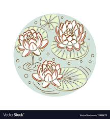 Floral Plate Design Lotus Floral Round Plate Design