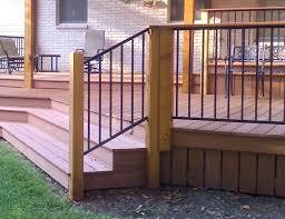 image of elegant metal deck railing