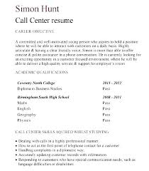 Call Center Resume Format – Resume Tutorial