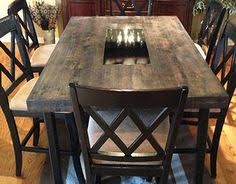 butcher block dining table. Custom Furniture, Butcher Block Table, Wood And Metal, Metal Inlay, Reclaimed Wood, Kitchen Table. COLORADO SPRINGS BASED!!! | Products I Love Pinterest Dining Table