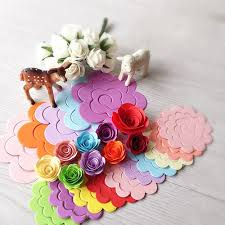 Us 1 2 30pcs 10colors 75mm 75mm Flower Design Quilling Paper Crafts For Diy Handmade Cards Decor Paper Scrapbooking In Craft Paper From Home