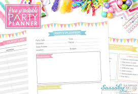 Party Planer Party Planner Free Printable 14 Pages