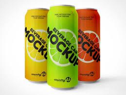 Drinks Can Design Drink 3 5 Psd Mockups