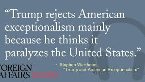 trump and american exceptionalism foreign affairs