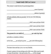 Daycare Contract Template Daycare Contract Template Also Printable Daycare Contracts