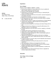 Scrum Master Sample Resume Scrum Master Resume Sample Velvet Jobs 1