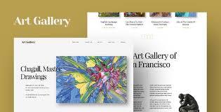 Artist Website Templates Adorable Artist Portfolio Templates From ThemeForest