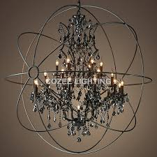 chrome orb chandelier chandeliers crystal modern iron shabby chic