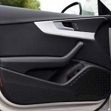 car door anti kick pad protection decals carbon fiber stickers for audi a3 q3 q5 q7 auto interior accessories sports car interior truck accessories interior