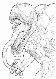 Small Picture Coloring Pages Printable Venom Coloring Pages To Print Venom