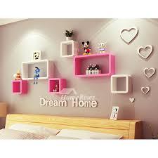 modern wooden cube wall shelves wall