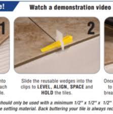 lash tile leveling aligning spacer wedges part b