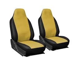 oxgord 2pc integrated leatherette bucket seat covers universal fit for car truck van