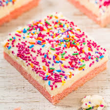 Strawberry Cookie Bars With Vanilla Cream Cheese Frosting Averie Cooks