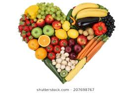 fruit and vegetables heart. Plain Heart Fruits And Vegetables Forming Heart Love Topic Healthy Eating Isolated Inside Fruit And Vegetables Heart N