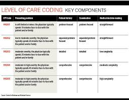 Evaluation And Management Coding Chart Evaluation And Management Bill The Correct Level Of Care